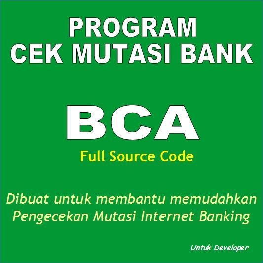 Diskusi Program PHP cek mutasi BCA Full Source Code - TokoFile