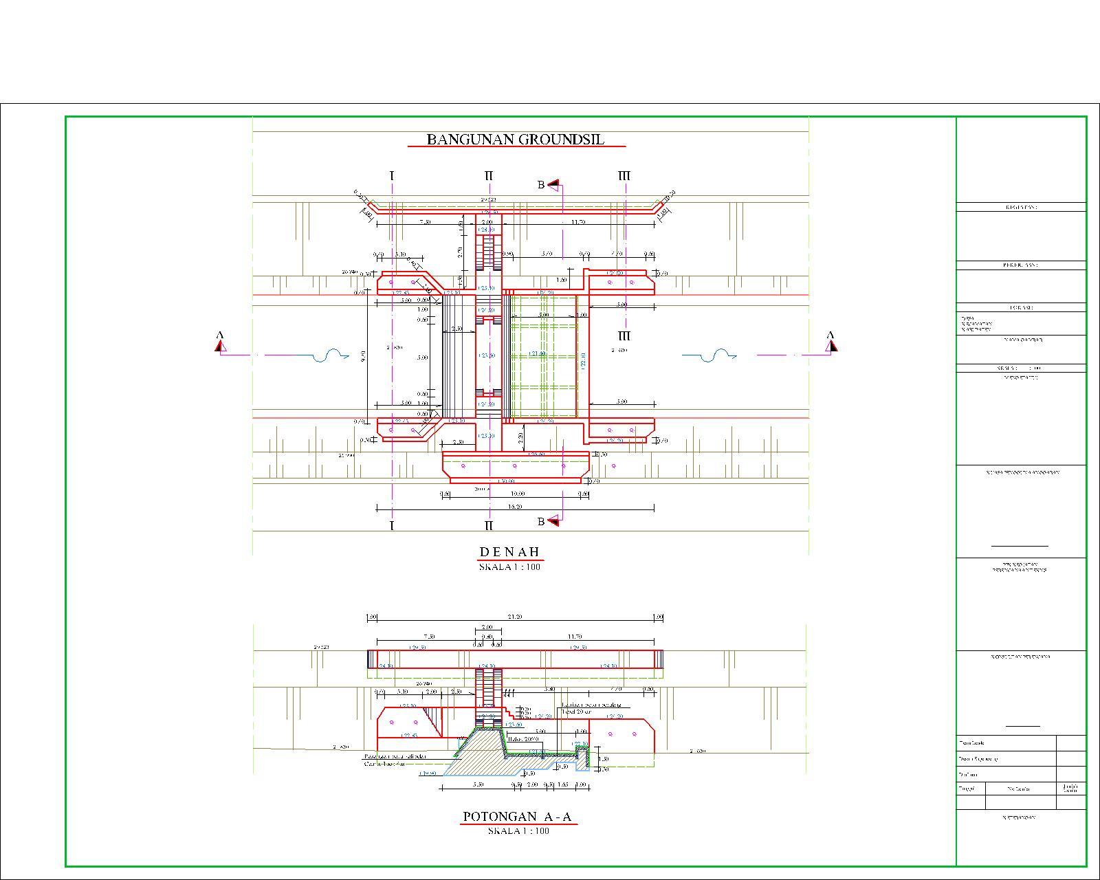 contoh gambar desain bangunan groundsill tokofile
