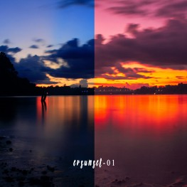fotografisunsetpreset lightroomevan visualrainbow sunset preset 1