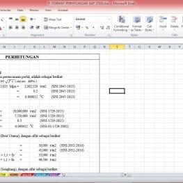format perhitungan sap2000 1