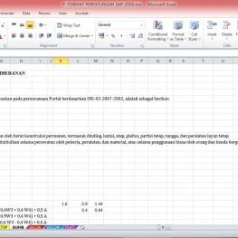 format perhitungan sap2000 2