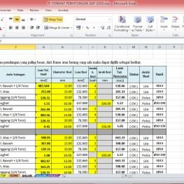 format perhitungan sap2000 7