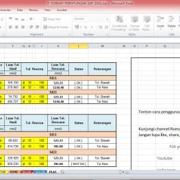 format perhitungan sap2000 8