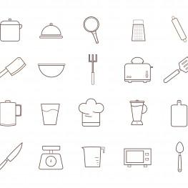 #peralatan masak #alat dapur #panci #blender #oven #gelas #ikon #garpu #sendok