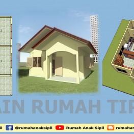 model rumah tipe 40 sketch up
