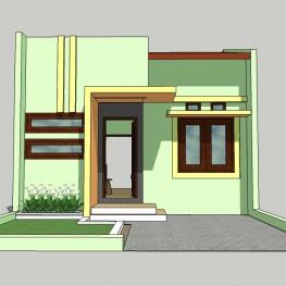 model sketchup rumah tipe 40/90