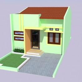 model sketchup rumah tipe 40/90 1